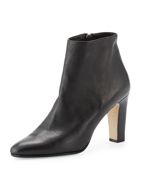 Manolo Blahnik Itapua Leather 90mm Ankle Boot
