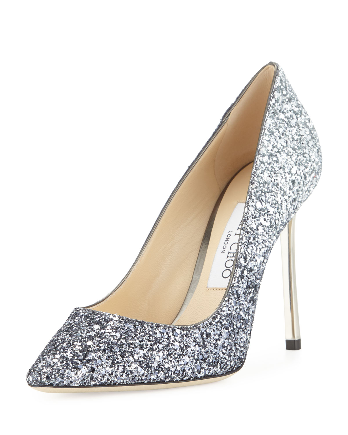 2594259cba0 Jimmy Choo Romy Glitter Pointed-Toe 100mm Pumps
