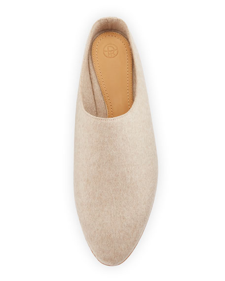 Bea Cashmere Slipper, Ivory