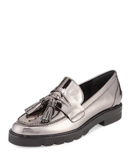 Manila Leather Tassel Loafer, Iron