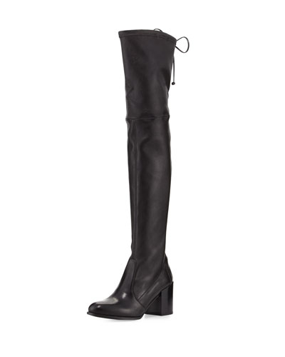 Tieland Leather Over-the-Knee Boot, Nero