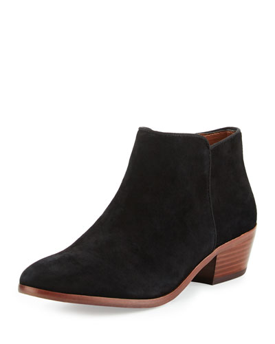 Petty Suede Ankle Boot, Black