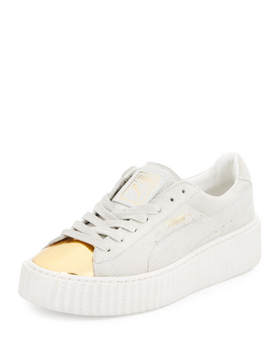 Basket Suede Cap-Toe Creeper, Gold/Star White