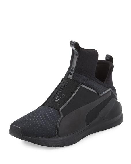Puma Fierce Quilted High-Top Sneaker, Black