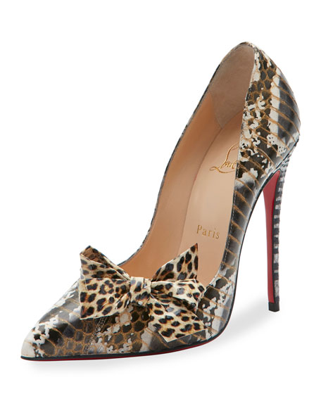 Christian Louboutin Madame Menodo Snakeskin 100mm Red Sole