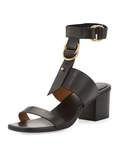 Kingsley Leather T-Strap Sandal