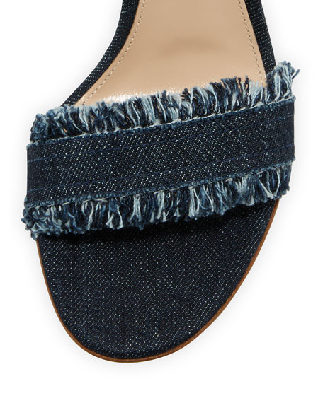 Lola Denim 85mm Sandal, Denim
