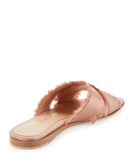 Barth Satin Crisscross Slide Sandal