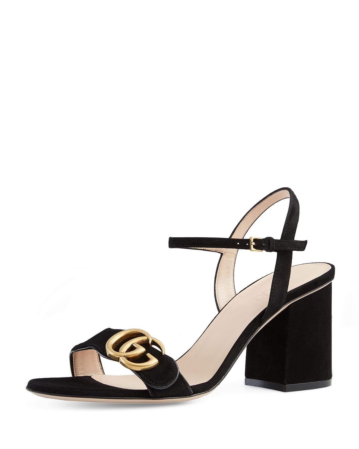 bb13bb79c68 Gucci Marmont Suede 75mm Sandal