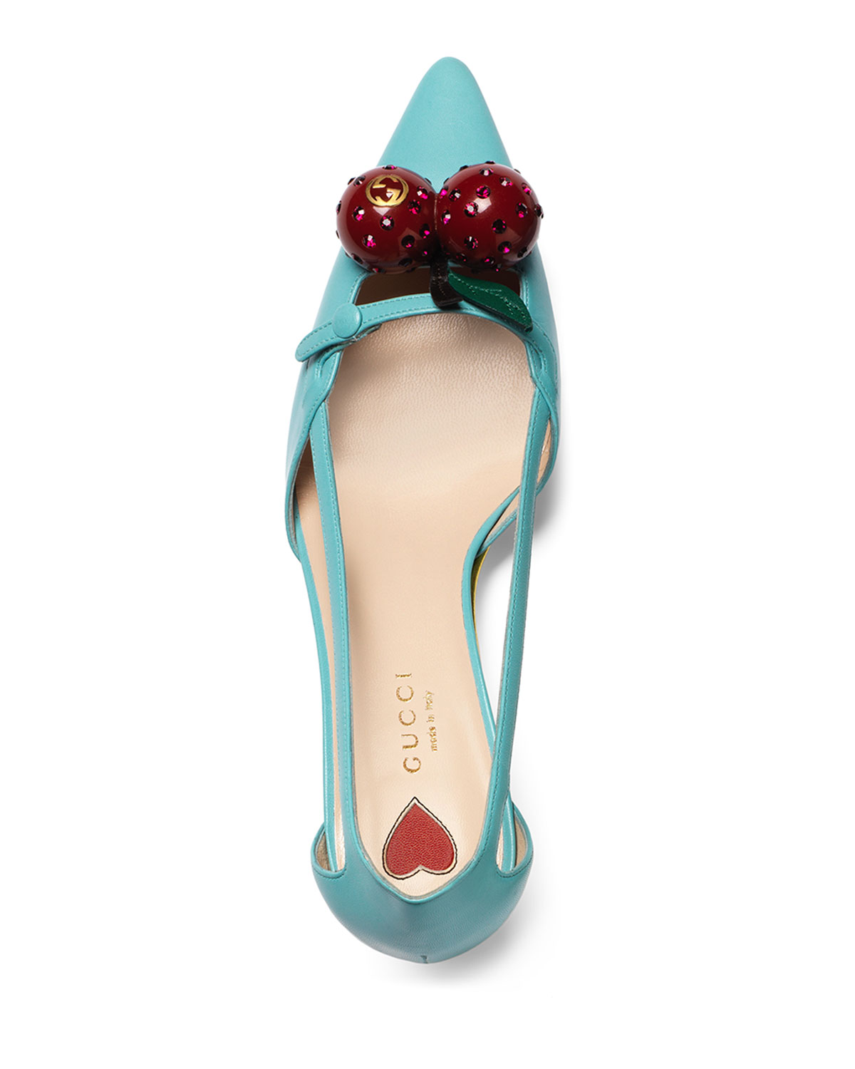 Cherry patent leather pumps Gucci