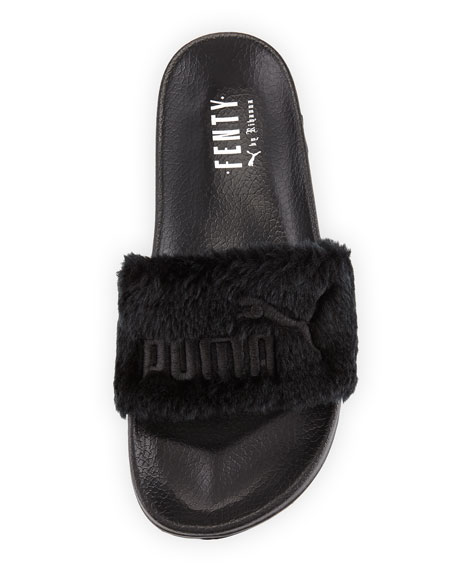 fenty puma by rihanna leadcat fenty faux fur slide sandal. Black Bedroom Furniture Sets. Home Design Ideas