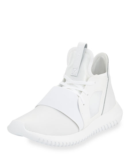 Adidas Tubular Defiant High-Top Sneaker, Running White