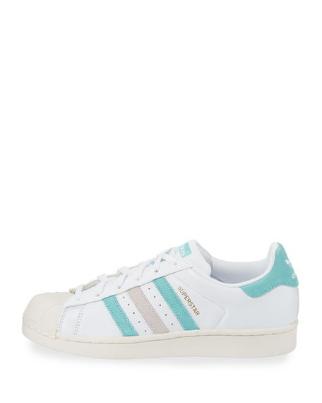 Superstar Original Fashion Sneaker, White/Linen Green/Ice