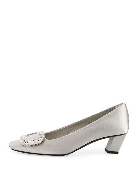 Belle Vivier Strass Satin 45mm Pump