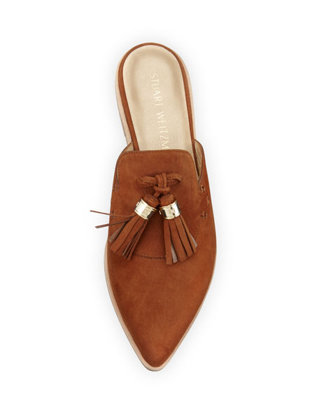 Slidealong Tassel Pointed-Toe Mule