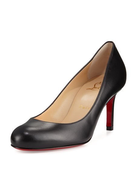 Christian Louboutin Simple Leather 70mm Red Sole Pump,