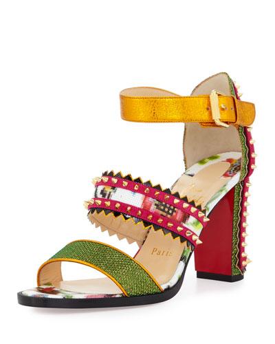 christian louboutin studded sandals