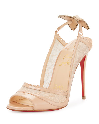 Hot Spring Butterfly 100mm Red Sole Pump, Doudou