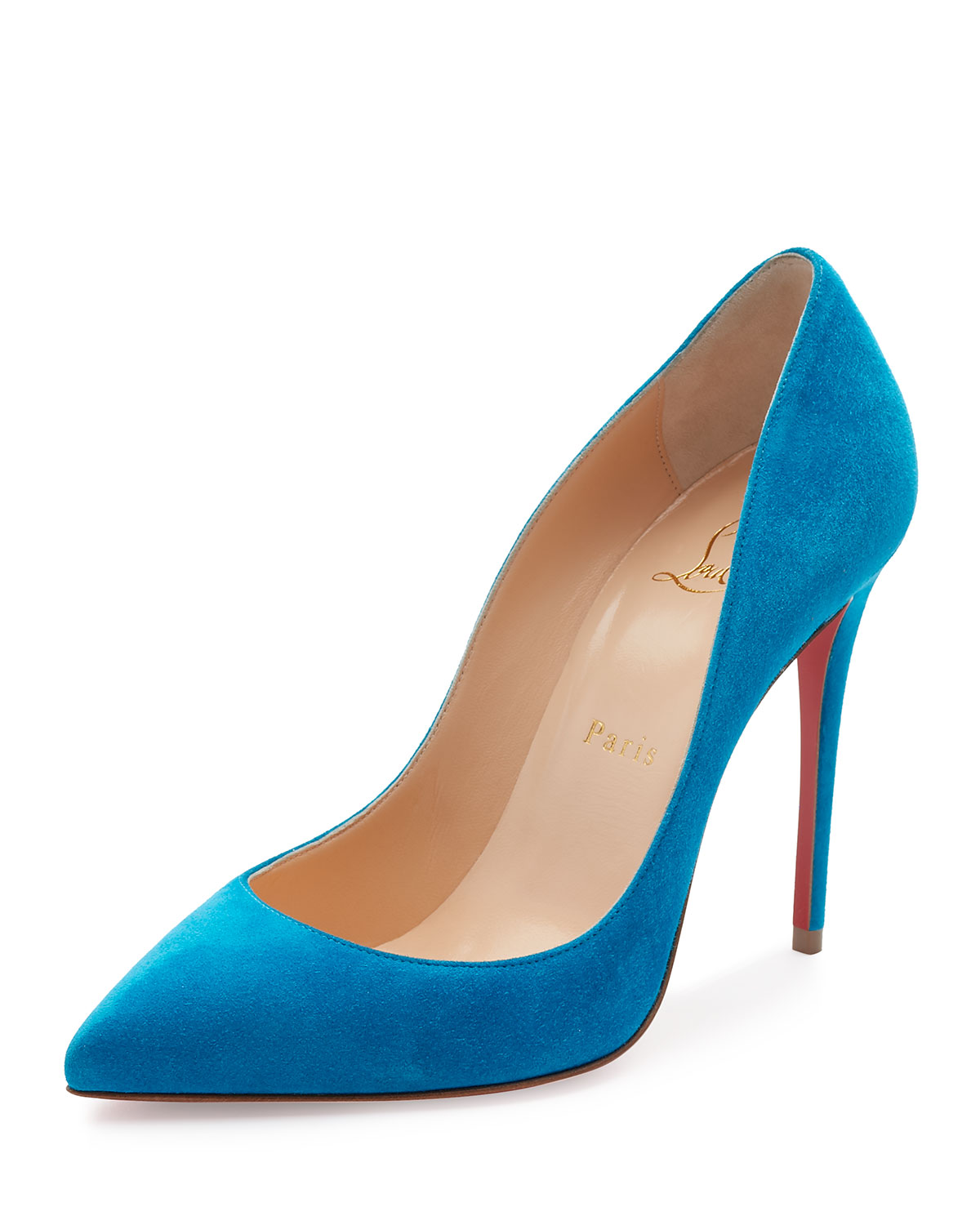 20ed89c6db0 Christian Louboutin Pigalle Follies Suede 100mm Red Sole Pump ...