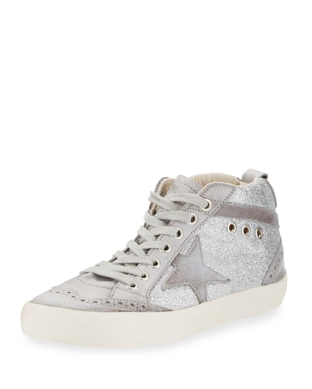 e6072704ac962a Golden Goose Mid Star Glitter High-Top Sneaker