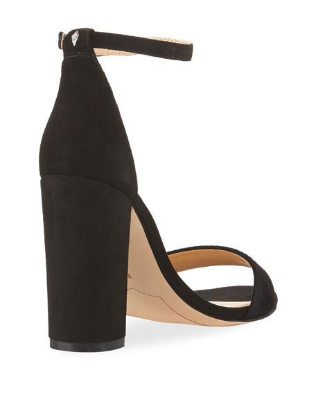 Yaro Suede Block-Heel Sandals