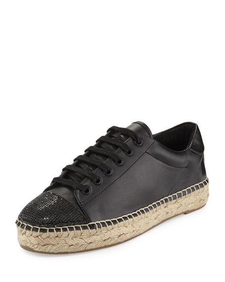 Kendall + Kylie Joslyn Cap-Toe Espadrille Sneaker, Black