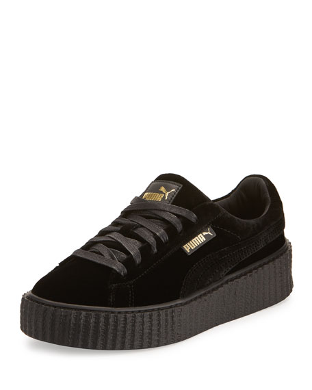 Fenty Puma by Rihanna Velvet Low-Top Creeper, Black