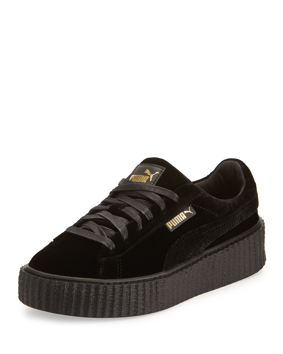 new product f209e 4bf0e Velvet Low-Top Creeper, Black