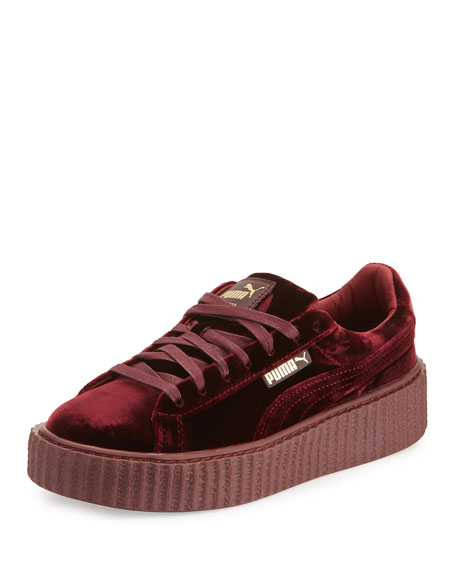 Fenty Puma by Rihanna Velvet Low-Top Creeper, Purple