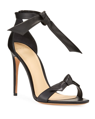 16950a68326d Alexandre Birman Clarita Leather Ankle-Tie 100mm Sandals