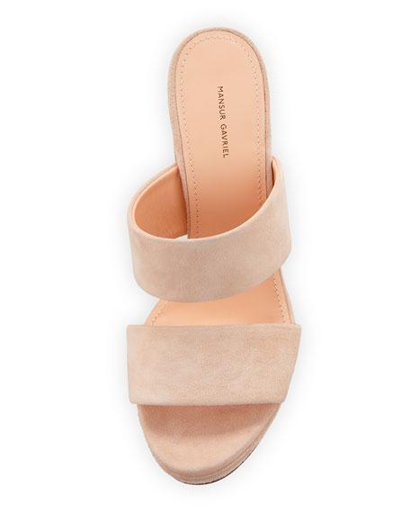 Dual-Strap Platform Slide Sandal