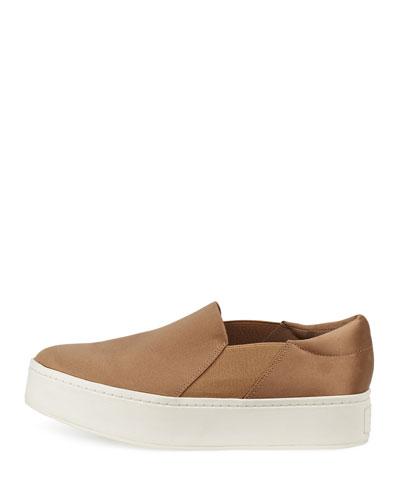 VINCE Warren Satin Platform Sneaker