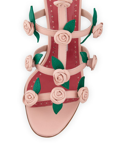 Doit Rosette Caged Sandals, Rose