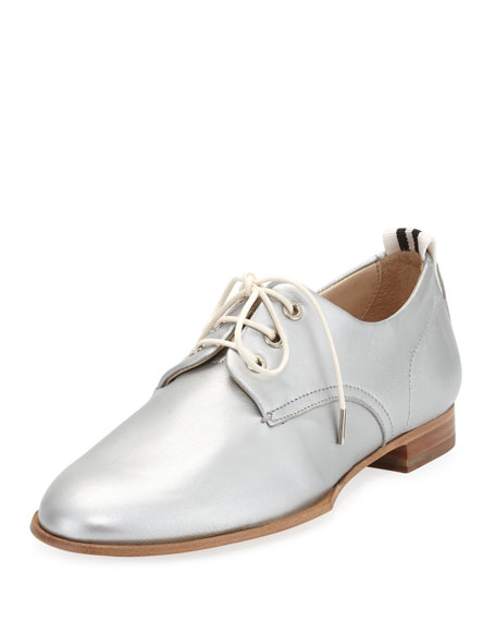 Rag & Bone Audrey Metallic Leather Oxford Flat,