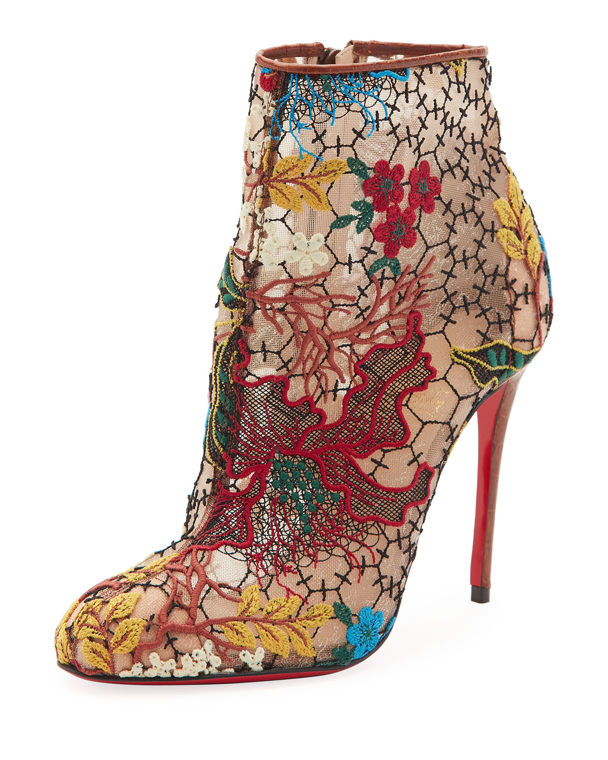 Christian Louboutin Women's Miss Tennis Floral Lace Bootie g4mZf