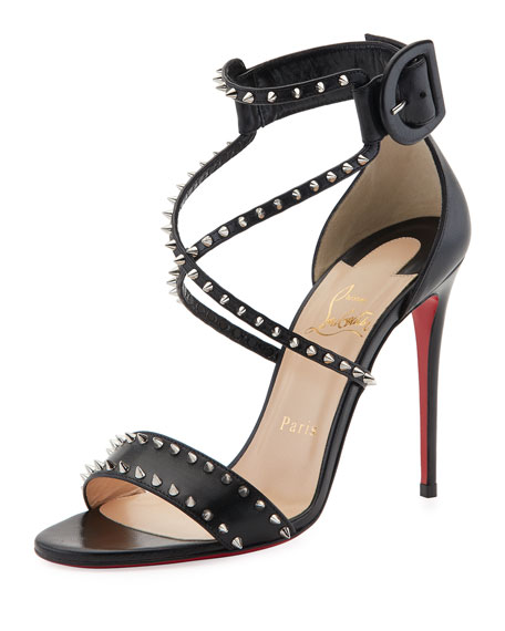 Christian Louboutin Choca Spikes Red Sole Sandal