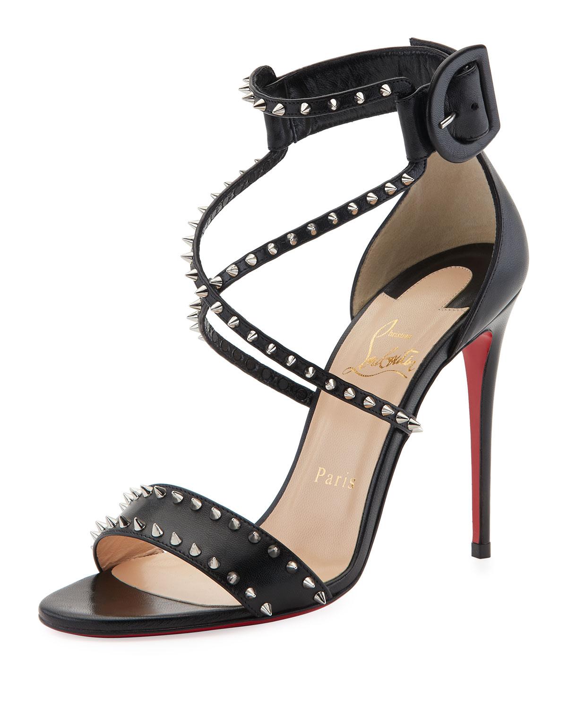 4247ca324cf9 Christian Louboutin Choca Spikes Red Sole Sandal