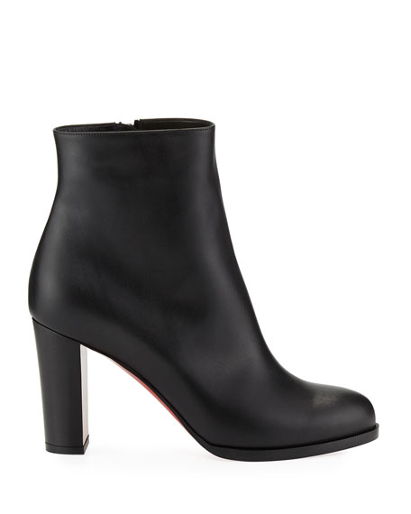 Adox Leather Block-Heel Red Sole Boot