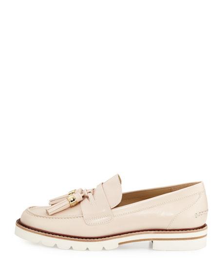 Manila Leather Tassel Loafer, Off White
