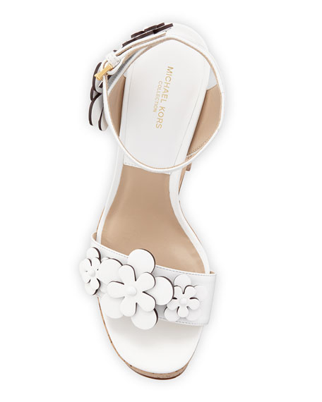 Debbie Cork Platform Sandal, White
