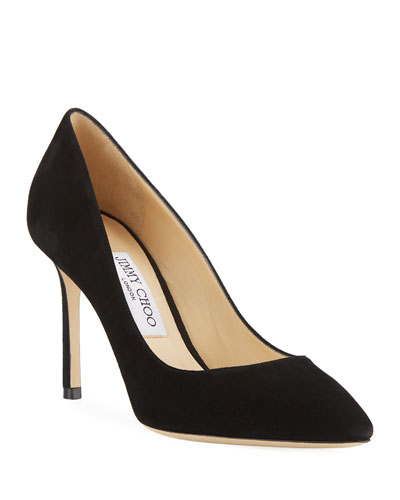 Romy Suede 85mm Pump, Black