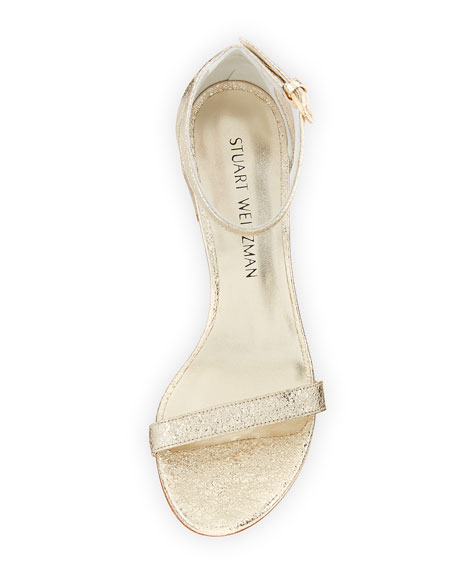 Simple Metallic 55mm Sandal, Gold