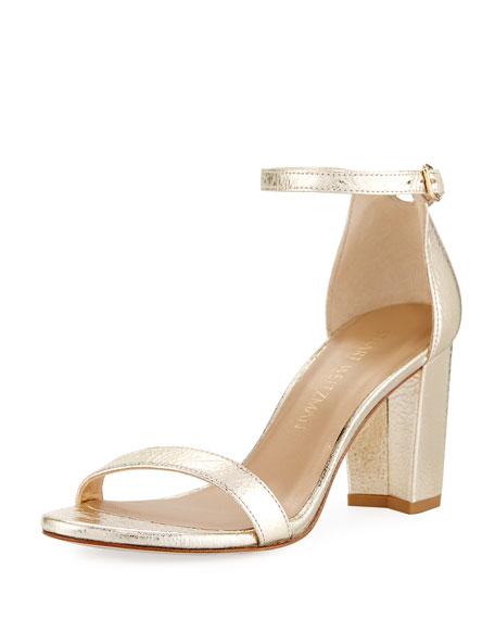 Stuart Weitzman Nearlynude Metallic 55mm Sandal, Cava