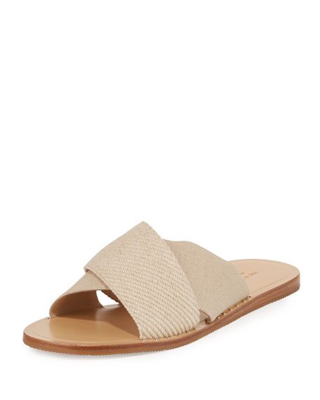 Rag & Bone Keaton Flat Crisscross Canvas Slide