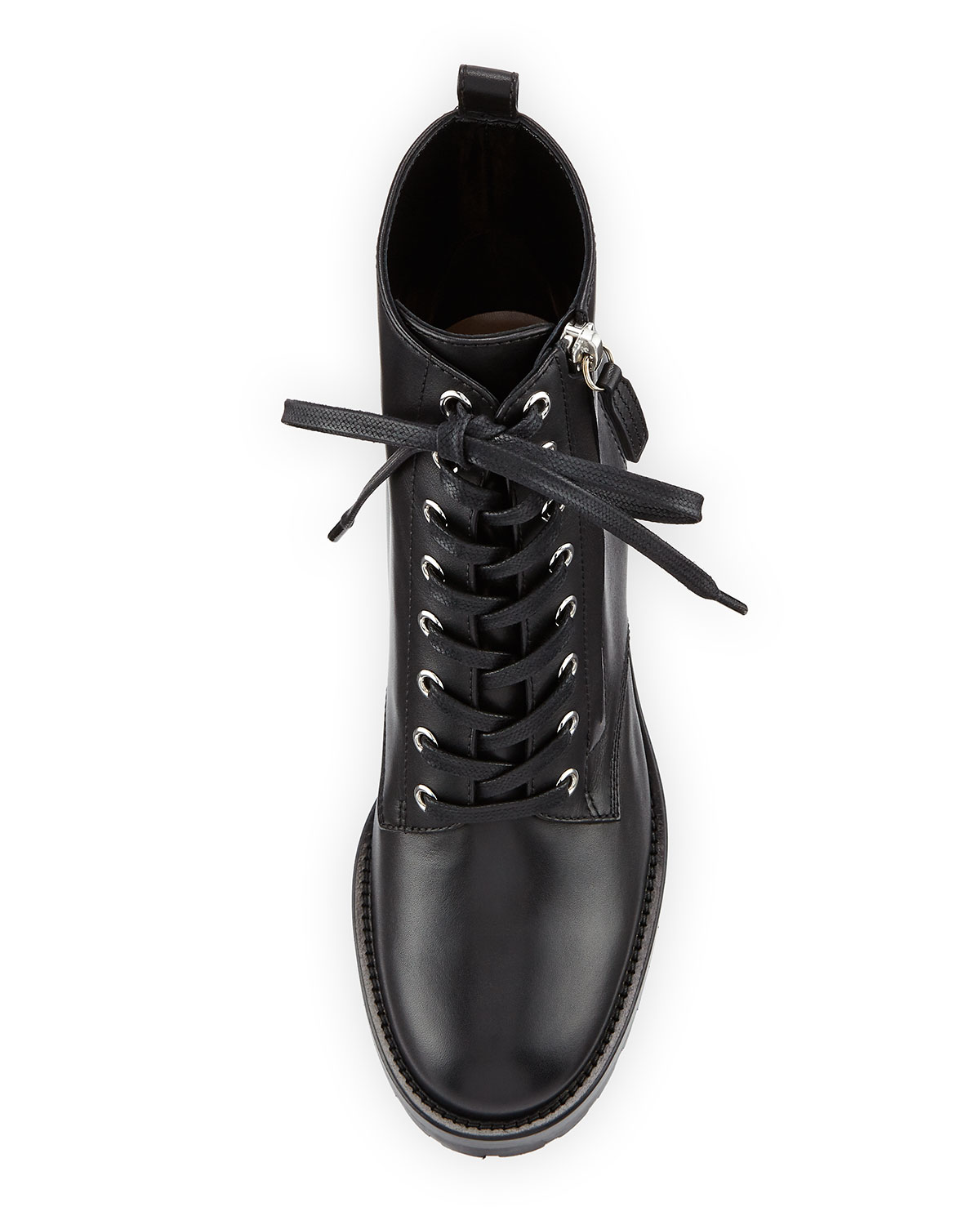 Gianvito Rossi Croft Leather Lace-Up