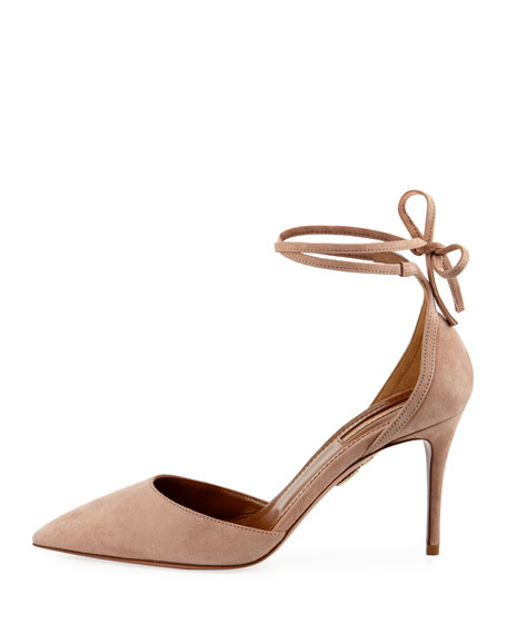 Image 2 of 4: Aquazzura Heart Breaker 85mm Ankle-Wrap Pump