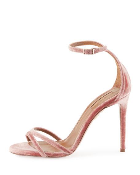 Purist Velvet Sandal, Antique Rose