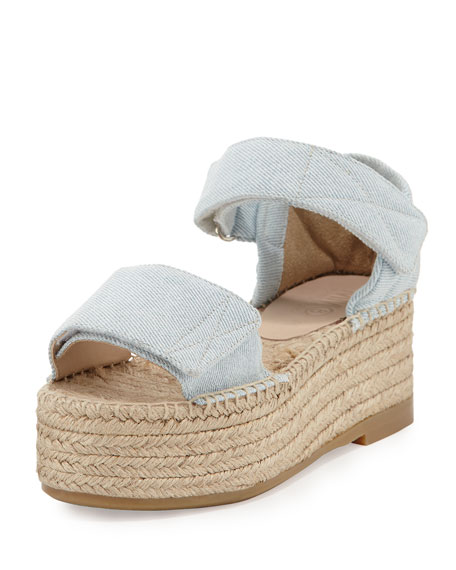MM6 Maison Martin Margiela Canvas Wedge Platform Espadrille