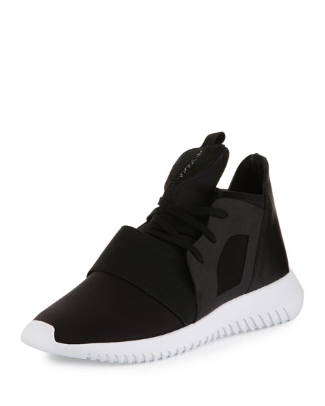 Adidas Tubular Defiant High-Top Sneaker, Core Black/Running White
