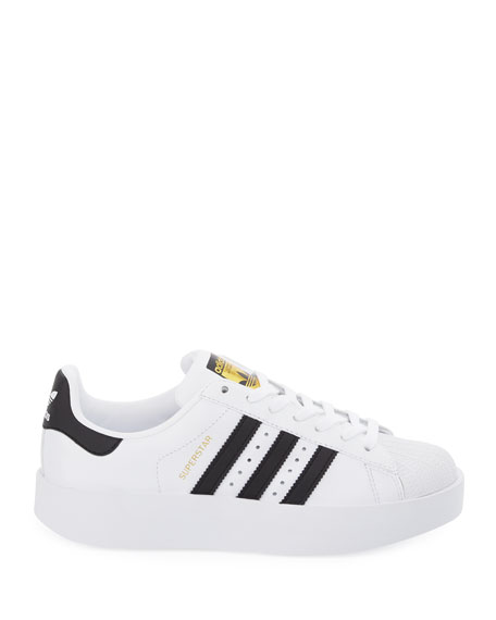 Superstar Bold Two-Tone Sneaker, White